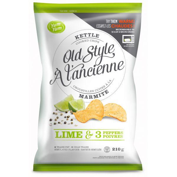 croustilles l 39 ancienne lime et 3 poivre aliments krispy kernels inc aliments du qu bec. Black Bedroom Furniture Sets. Home Design Ideas