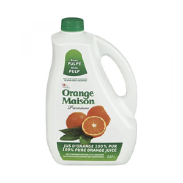 jus orange avec pulpe orange maison premium a lassonde inc aliments du qu bec. Black Bedroom Furniture Sets. Home Design Ideas