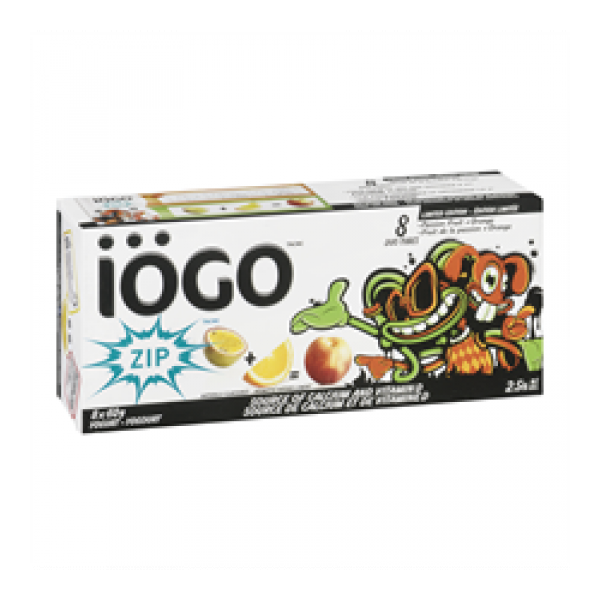 Iogo Zip Yogurt Tube 2 5 Strawberry Melon Blueberry