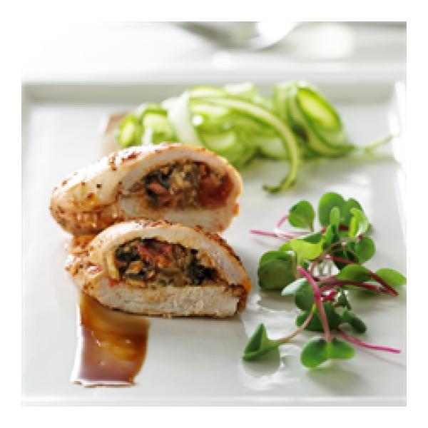 Paysanne Stuffed Chicken Breast In Med Sauce Viandes Dunham Inc